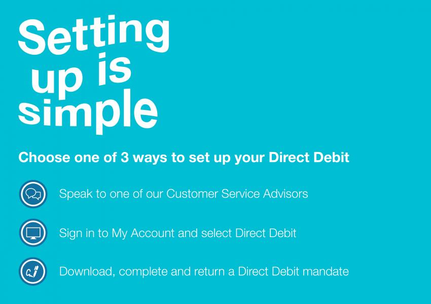 Setting up Direct Debit is simple