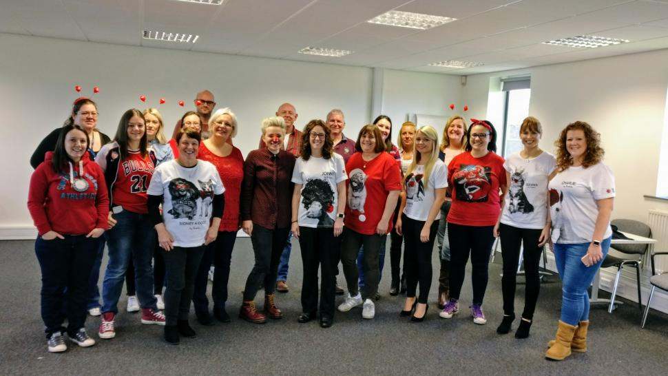 Staff Photo Celebrating Red Nose Day 2017